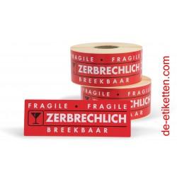 ZERBRECHLICH 50x150 mm