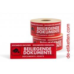 BEILIEGENDE DOKUMENTE 50x150 mm