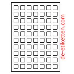 20 x 20 mm 100 Blatt p. Karton spez. Für Verlaufdruck