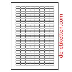 21 x 9 mm 100 Blatt p. Karton Ablösbare Etiketten