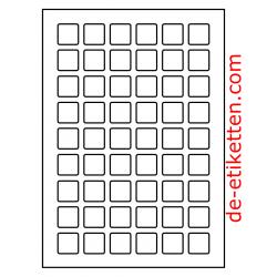 25 x 25 mm 100 Blatt p. Karton rückläufiges Drucken