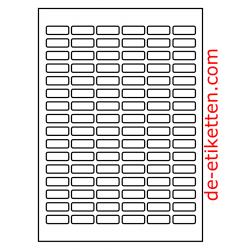 30 x 12 mm 100 Blatt p. Karton
