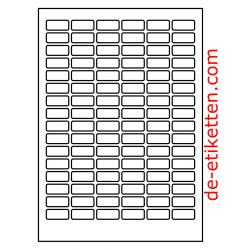 30 x 14 mm 100 Blatt p. Karton spez. für Verlaufdruck
