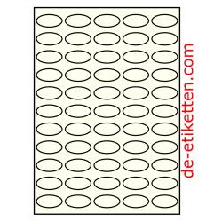 38 x 19 mm Oval 100 Blatt p.  Karton
