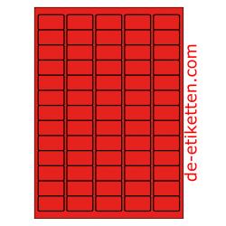38 x 21 mm 100 Blatt p. Karton ROT