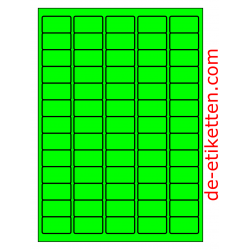 38 x 21 mm 100 Blatt p. Karton GRÜN FLUOR