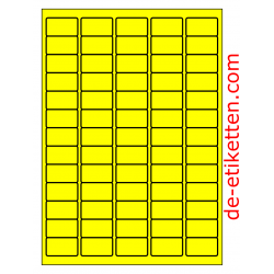 38 x 21 mm 100 Blatt p. Karton GELB FLUOR