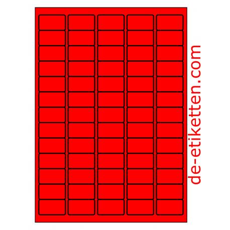38 x 21 mm 100 Blatt p. Karton ROT FLUOR