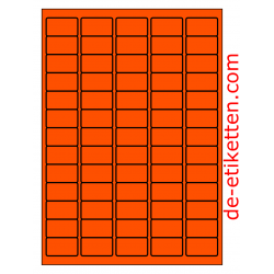 38 x 21 mm 100 Blatt p. Karton ORANGE FLUOR