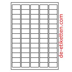 100 Blatt p. Karton Mat Transparent vinyl 38 x 21 mm