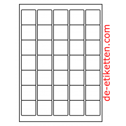 38 x 38 mm 100 Blatt p. Karton Ablösbare Etiketten