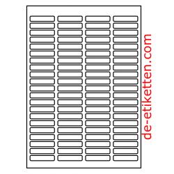46 x 11 mm 100 Blatt p. Karton Ablösbare Etiketten