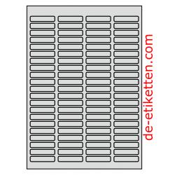 46 x 11 mm 50 Blatt p. Karton ALUMINIUM
