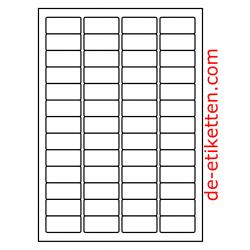 46 x 21 mm 100 Blatt p. Karton Ablösbare Etiketten