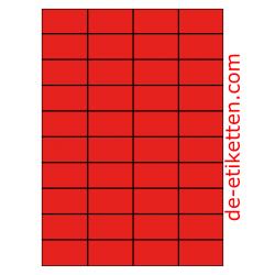 52 x 30 mm 100 Blatt p. Karton ROT