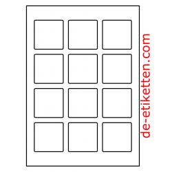 55 x 55 mm 200 Blatt p. Karton spez. für Verlaufdruck