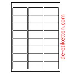 63 x 34 mm 100 Blatt p. Karton