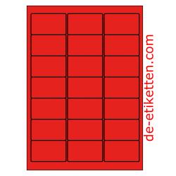 63 x 38 mm100 Blatt p. Karton ROT