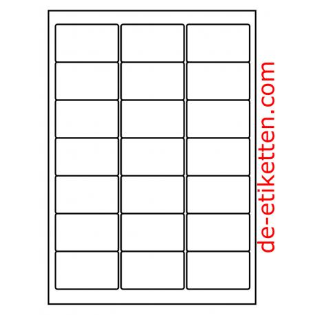 100 Blatt p. Karton Poly-Master-Vinyl Glasklar Transparent 63 x 38 mm