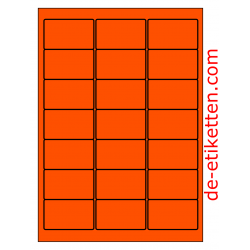 63 x 38 mm 100 Blatt p. Karton ORANGE FLUOR