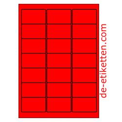 63 x 38 mm100 Blatt p. Karton ROT FLUOR