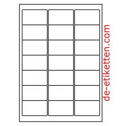100 Blatt p. Karton Mat Transparent vinyl 63 x 38 mm