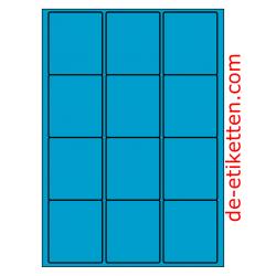 63 x 72 mm 100 Blatt p. Karton BLAU