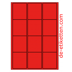 63 x 72 mm 100 Blatt p. Karton ROT