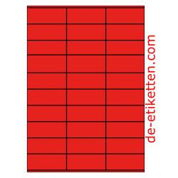 70 x 29 mm 100 Blatt p. Karton ROT