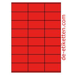 70 x 36 mm 100 Blatt p. Karton ROT