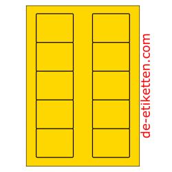 70 x 53 mm 100 Blatt p. Karton GELB