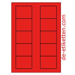 70 x 53 mm 100 Blatt p. Karton ROT