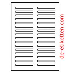 78 x 8 mm 100 Blatt p. Karton spez. für Verlaufdruck
