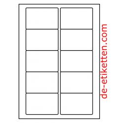 85 x 55 mm 200  Blatt p. Karton PMV