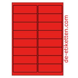99 x 34 mm 100 Blatt p. Karton ROT