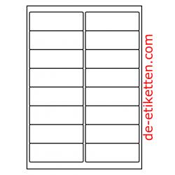 100 Blatt p. Karton Mat Transparent vinyl 99 x 34 mm