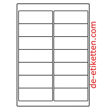 100 Blatt p. Karton Mat Transparent vinyl 99 x 38 mm