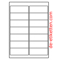 99 x 38 mm 100 Blatt p. Karton Ablösbare Etiketten