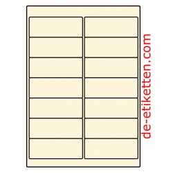 99 x 38 mm 100 Blatt p. Karton CREME
