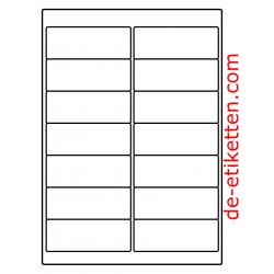 99 x 38 mm 200 Blatt p. Karton