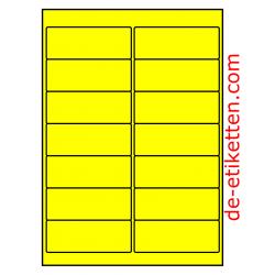 99 x 38 mm 100 Blatt p. karton GELB FLUOR
