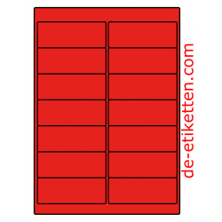 99 x 38 mm 100 Blatt p. Karton ROT