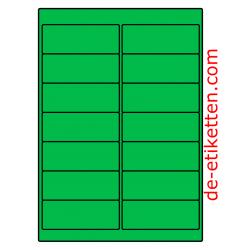 99 x 38 mm 100 Blatt p. Karton GRÜN