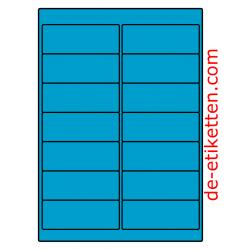 99 x 38 mm 100 Blatt p. Karton BLAU