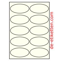 99 x 49 mm Oval 100 Blatt p. Karton