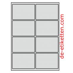 99 x 68 mm 50  Blatt p. Karton ALUMINIUM