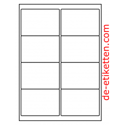 99 x 68 mm Mat Transparent 100 Blatt p. Karton