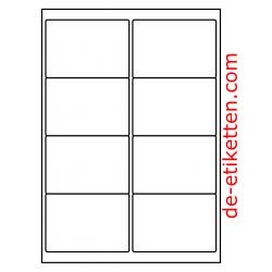 99 x 68 mm Mat Transparent 100 Blatt p. Karton