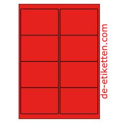 99 x 68 mm 100 Blatt p. Karton ROT