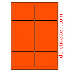 99 x 68 mm 100 Blatt p. Karton ORANGE FLUOR